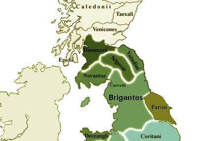 Tribes of Northern Roman Britain (Wikipedia Commons)